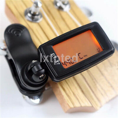 Chromatic Clip-On Digital Tuner For Acoustic Electric Guitar Bass Violin AU`