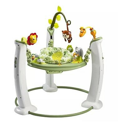 Brand New Evenflo Exersaucer Jump and Learn Stationary Jumper Safari Friends