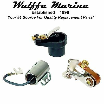 Tune-Up Kit for Mercruiser OMC 2.5L 3.0L 120 140 Hp Points Condenser Rotor