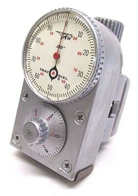 "NICE! SWI TRAV-A-DIAL .001"" ""SILVER BULLET"" TRAVEL DIAL READOUT w/ BASE - #GB42"