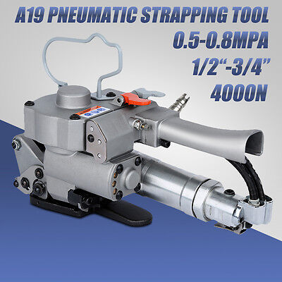 A-19 Handed Pneumatic Strapping Tools Strp Packaging Tighten Welding Polyester