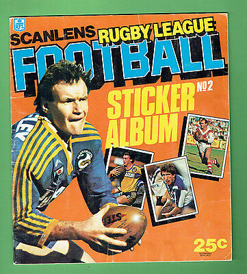 #t6. Set(172)  1984 Scanlens Rugby League Stickers & Album