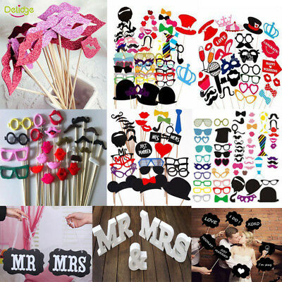 Party Birthday DIY Photo Booth Props Mask Glass On A Stick Wedding Decorations