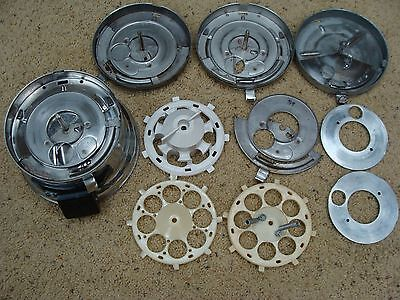Lot of Vintage Ford Gumball Machine Parts~SS Base~Pans~Wheels~Slide~All Pictured