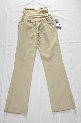 NEW Oh Baby Motherhood Beige Stretch Maternity Pants L NWT $50.Secret Fit Belly