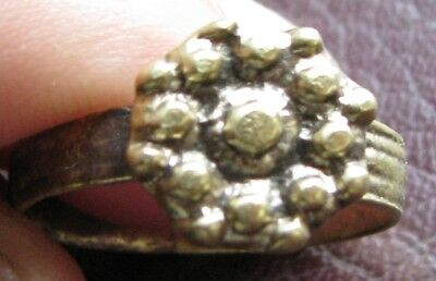 Ancient Artifact > Medieval Bronze Finger Ring SZ: 8 1/4 US 18.25mm 14781 DR