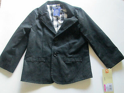 Nwt Toddler's  Boys  Cherokee Black  2 Button Blazer Size 3T