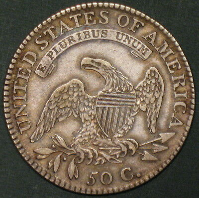 1817 CAPPED BUST HALF DOLLAR, O-105a R4-, SCARCE VARIETY, OLD COLLECTION SALE!