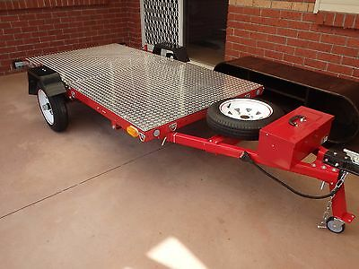 EasyTrailer 8 x 4 Folding Multifunction Motorbike Trailer (New) With $ In Extras