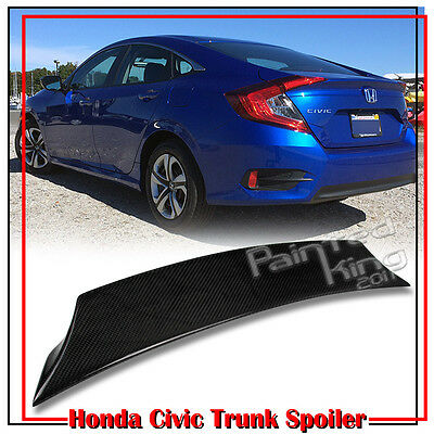 16-19 2DR Civic 10th Coupe For Honda V Style Rear Roof Spoiler ABS Painted