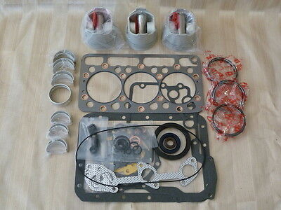 Kubota D850 Overhaul Kit / Pistons, Rings, Bearings, Gasket Set