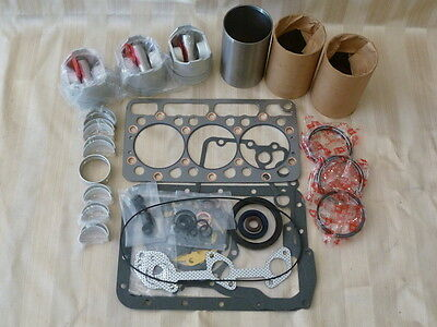 Kubota D850 Overhaul Kit / Liners, Pistons, Rings, Bearings, Gasket Set