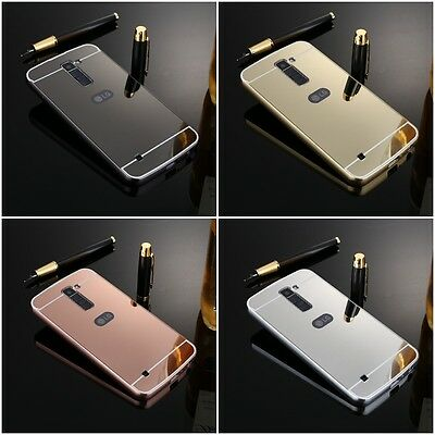 d0b5cab40c8 2 in 1 PC Luxury Ultra Sparkle Aluminum Frame Mirror Case Cover for LG K10