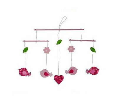 Hanging Wooden Bird Cot Mobile - Perfect for Nursery / Newborn / Baby Shower