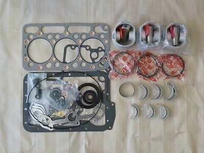 Kubota D950 Overhaul Kit / Pistons, Rings, Bearings, Gasket Set