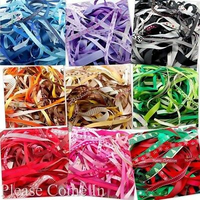 20 meters Mixed Ribbon Off Cuts, Assorted Width, Length, Colour, Design