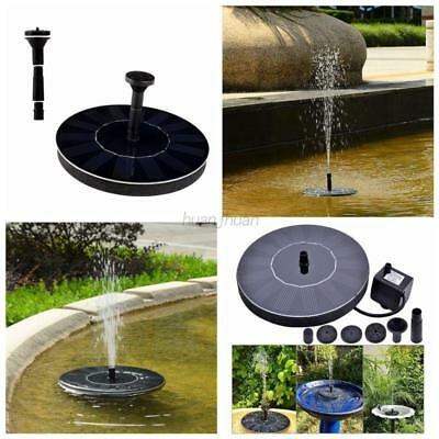 AU Solar Powered Fountain Water Pump Floating Panel For Garden Pond Watering