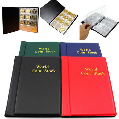 10 Pages 120 Coin Collection Holder Pocket Money tokens Storage Album Book Dazzl