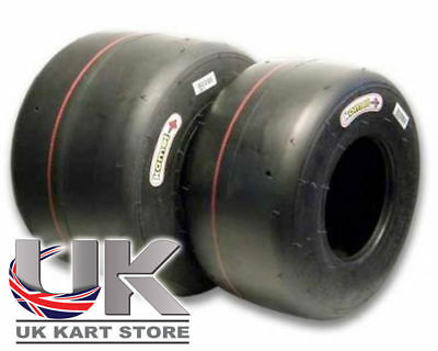 Komet Kart K1H (Red) Iame X30 Slick Tyre Set UK MSA Legal Fast Delivery