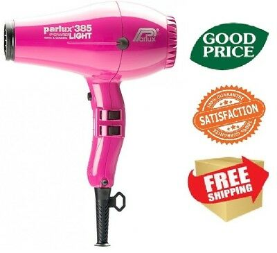 Parlux 385 Power Light Ceramic & Ionic Hair Dryer - Pink NEW FREE SHIPING