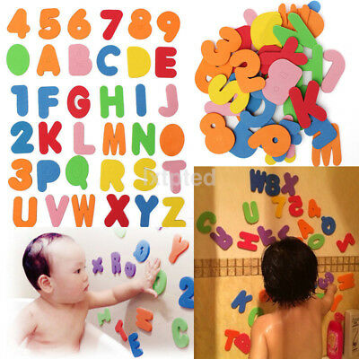 36x Foam Letters Numbers Floating Bathroom Bath tub Toys for Baby Kids Children~