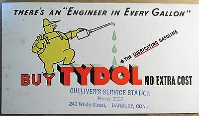 TYDOL Gasoline Advertising Ink Blotter THERE'S AN ENGINEER IN EVERY GALLON