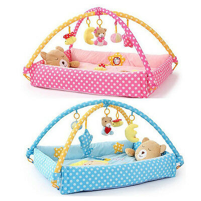 Baby Play Mat Cotton Toddler Child Infant Kids Floor Rug Bed Playmat Cushion Toy