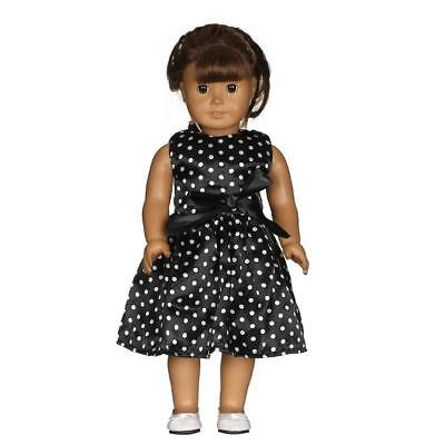Zipped Black Sleeveless Dress for 18'' American Girl Our Generation Doll