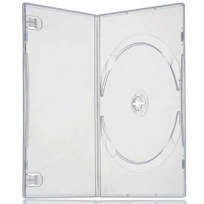 10 x Single DVD Case Cases 7mm Spine Standard Clear White Front Cover Sleeve