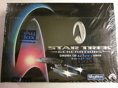 Skybox STAR TREK GENERATIONS Cinema Collector Cards Sealed Box: 36 6-Card Packs