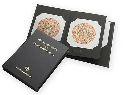 14 Plate Ishihara Tests Book For Color Blindness Testing Free Ship