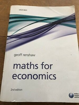 Maths for Economics by Geoff Renshaw (Paperback, 2008)