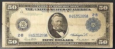 Series 1914 Fifty Dollars Federal Reserve Note, Federal Reserve Bank, New York!