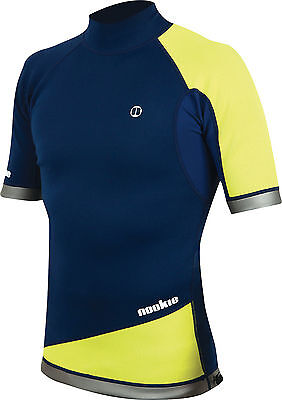 Navy/Yel-Nookie Ti Vest Short Sleeve-1mm Neo Top-Kayak/Surf/SUP/Wetsuit Jacket