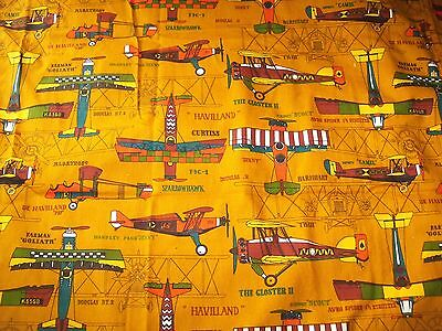 vintage Bedspread Twin Boys Airplane 50's 60's Bunk fitted bi planes