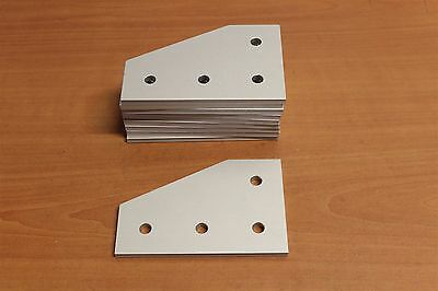 80/20 TSlot Aluminum 4 Hole 90 Degree Flat Plate 40 Series #40-4350 Lot I (10pc)
