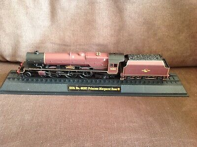 Model train collection 1935 No 46203 Princess Margaret on railway display stand