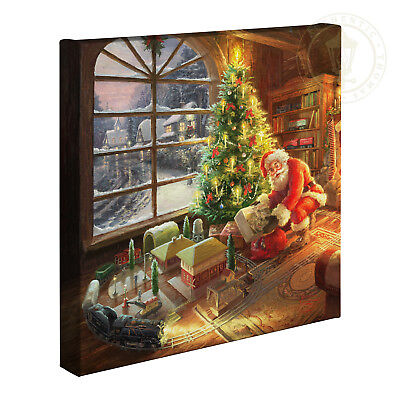 Thomas Kinkade Santa's Special Delivery 14 x 14 Canvas Gallery Wrap