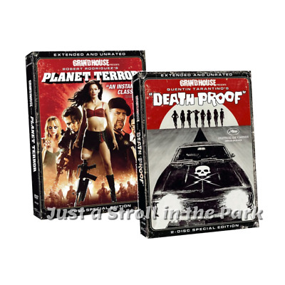 Grindhouse Presents: Planet Terror + Death Proof Horror Movies Box / DVD Set(s)