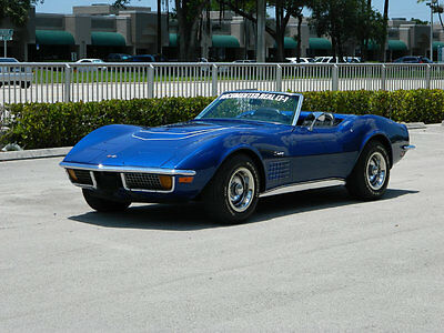 1972 Chevrolet Corvette LT1  1972 Chevrolet Corvette LT-1 Convertible #s Matching Blue over Black Real Deal