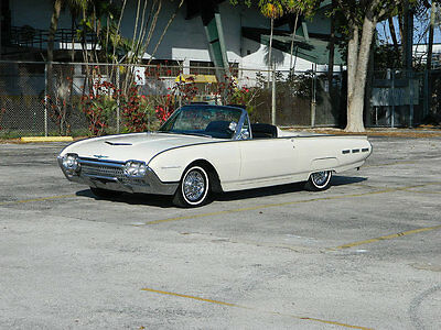 1962 Ford Thunderbird  1962 FORD THUNDERBIRD SPORT ROADSTER TONNEAU TRIM SWING AWAY WIRE WHEELS A/C