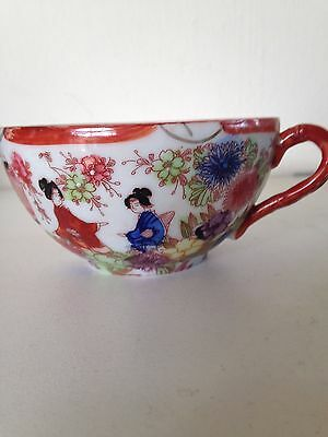 Vintage Chinese tea cup with geishas and lanterns #2