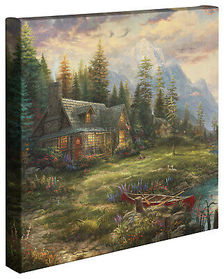Thomas Kinkade A Fathers Perfect Day 14 x 14 Gallery Wrap Canvas