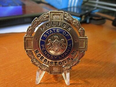 Circa 1930s Vintage Obsolete Police Norristown Pennsylvannia Pin Badge #103
