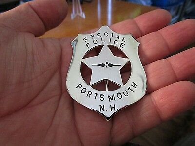 Circa 1930s Vintage Obsolete Special Police Portsmouth NH Badge #115
