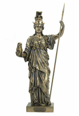 Athena Sculpture Greek Goddess Of Wisdom And War Statue Figure