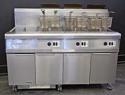 Frymaster Gas  Deep Fat Fryer - 3 Well Unit with Dump Station – Foot Print Pro