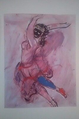 Marc Chagall,The Ballet, Dancer, The Firebird,Offset .Lithograph1969, Mourlot,
