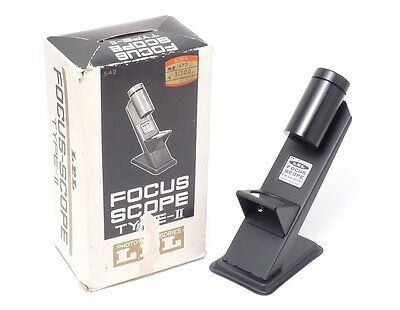 LPL FOCUS SCOPE TYPE II Darkroom Photography Grain Focuser ~ Mint in Box ~ Japan