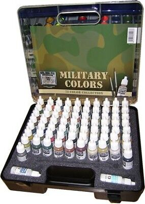 Vallejo Acrylic Paints 70173 Military Model Color Paint Set in Case